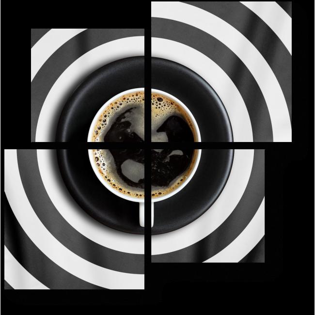 Модульная картина Кофе без молока