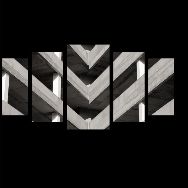 Модульная картина Острый угол