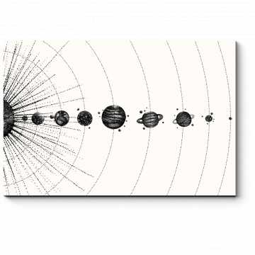 Модульная картина Геометрия космоса