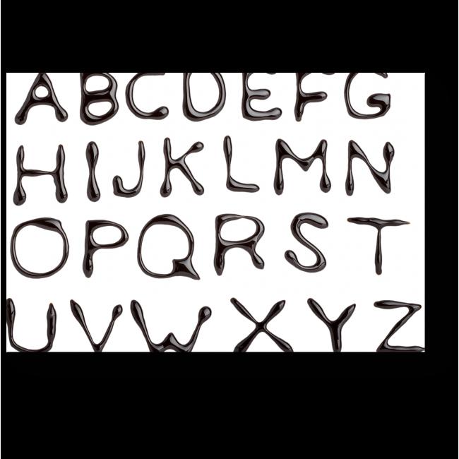 Модульная картина Шоколадный алфавит