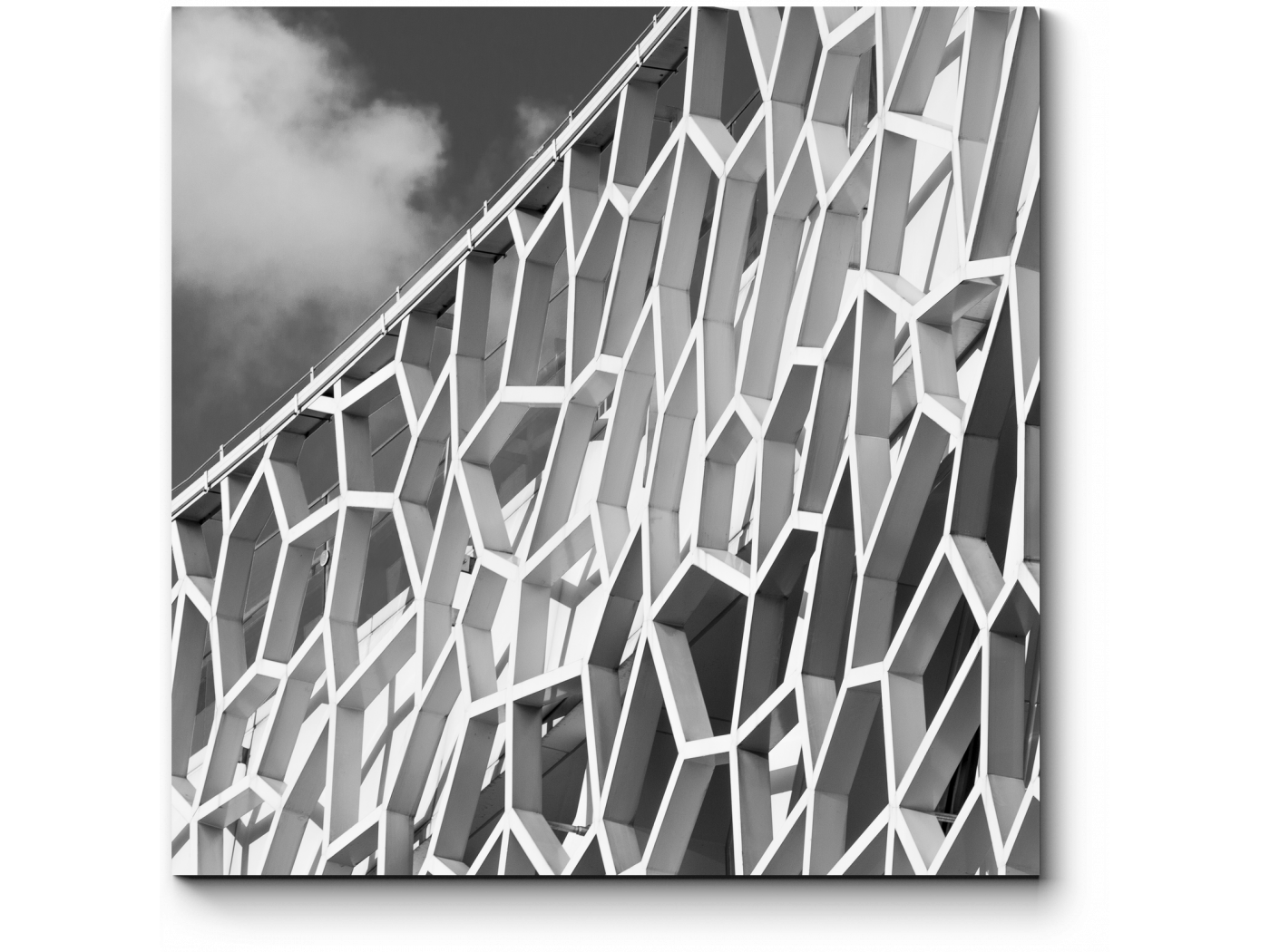 Модульная картина Архитектурная фантазия (20x20) фото