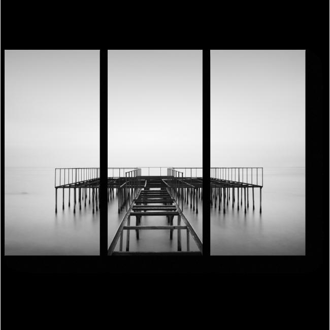 Модульная картина Одинокая пристань