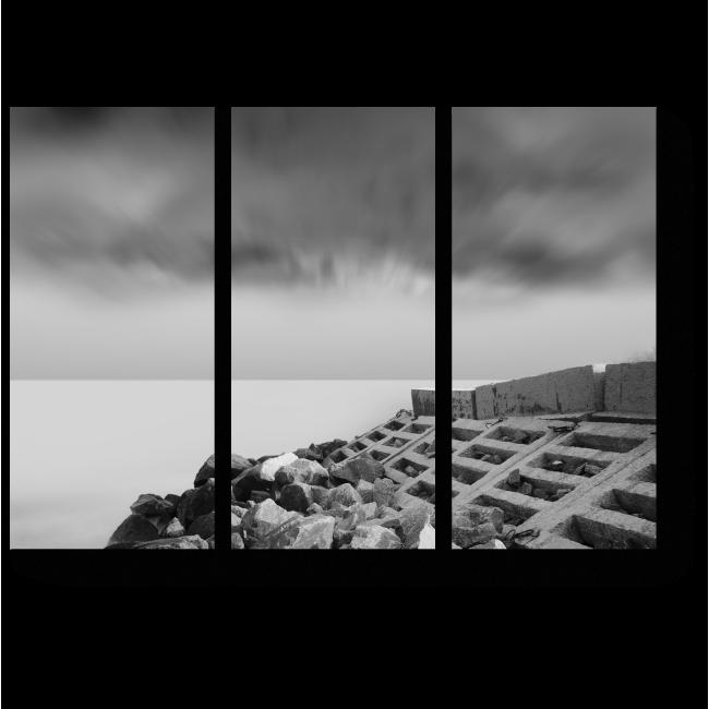 Модульная картина На каменном берегу