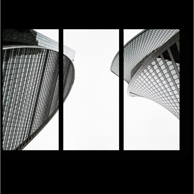 Модульная картина Величественные небоскребы