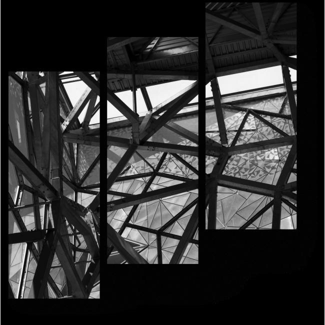 Модульная картина Металл и стекло