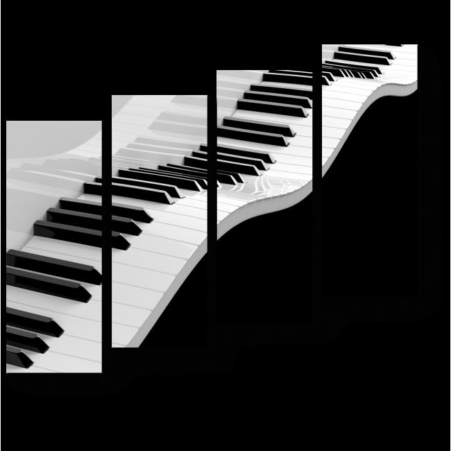 Модульная картина Черно-белая симфония