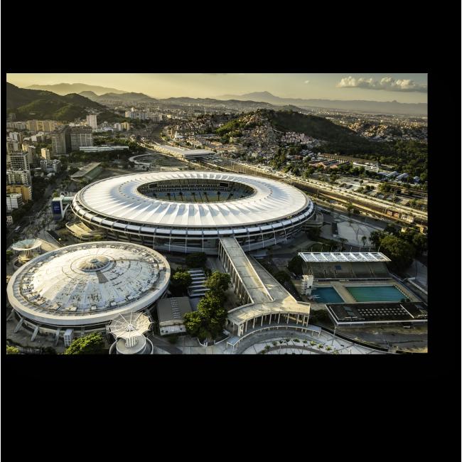 Модульная картина Рио-де-Жанейро с высоты птичьего полета