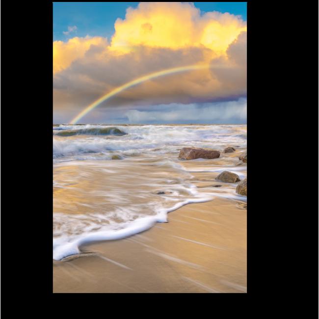 Модульная картина Море и радуга