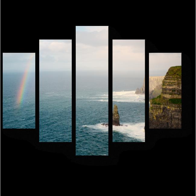 Модульная картина Живописные утесы Ирландии