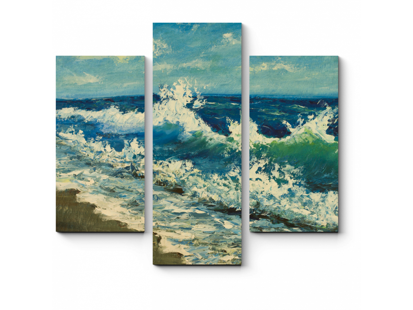 Модульная картина Море импрессионизма (60x54) фото