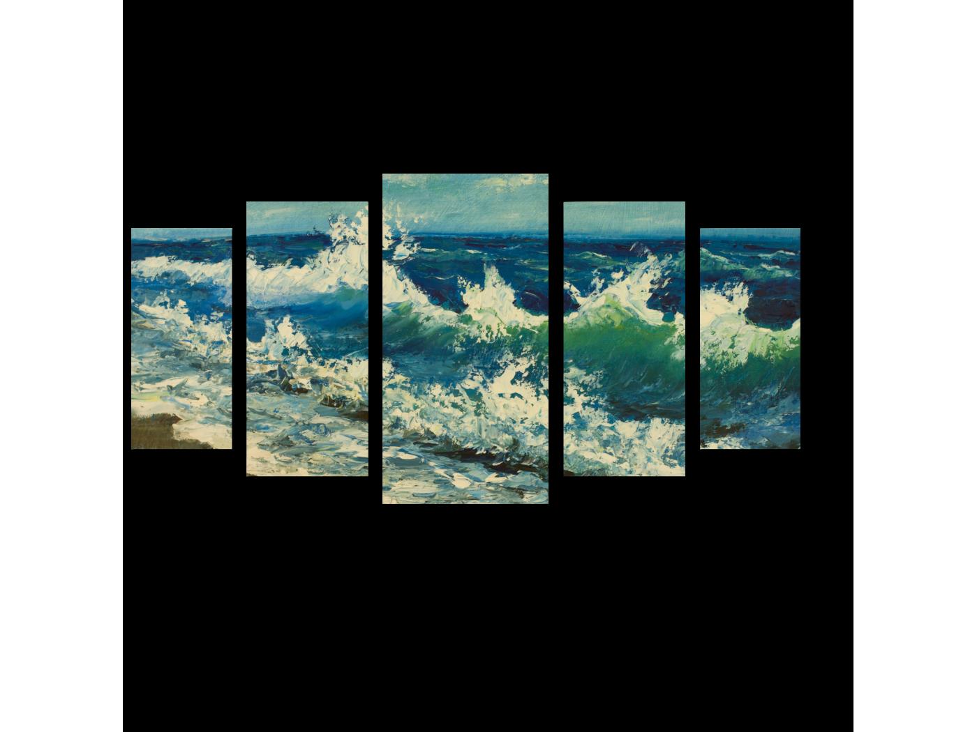 Модульная картина Море импрессионизма (100x55) фото