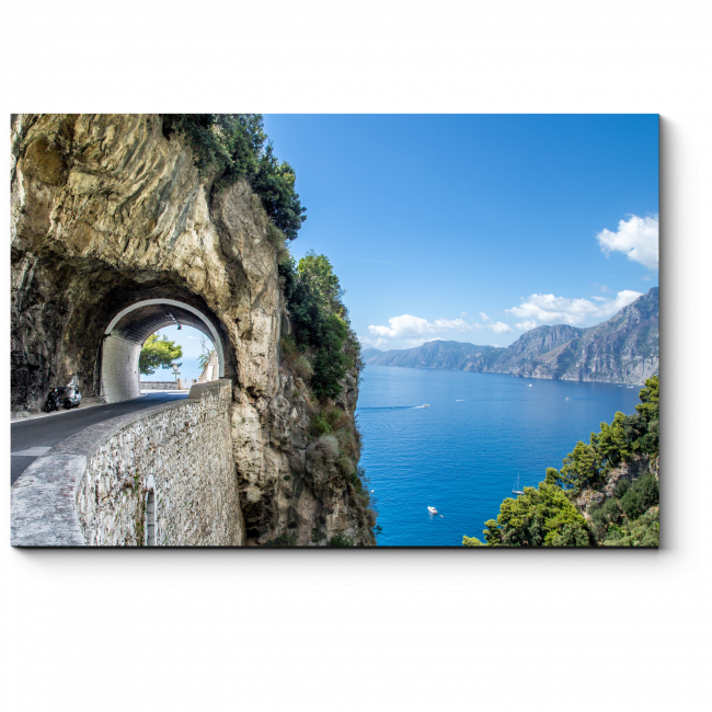 Модульная картина Тоннель на побережье Италии