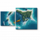 Тропический остров с высоты