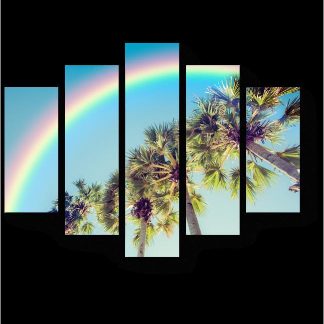 Модульная картина Тропическая радуга