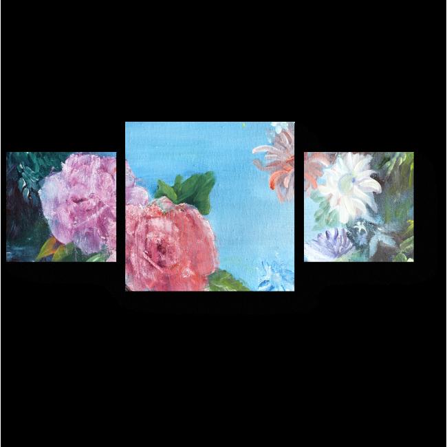 Модульная картина Очарование роз