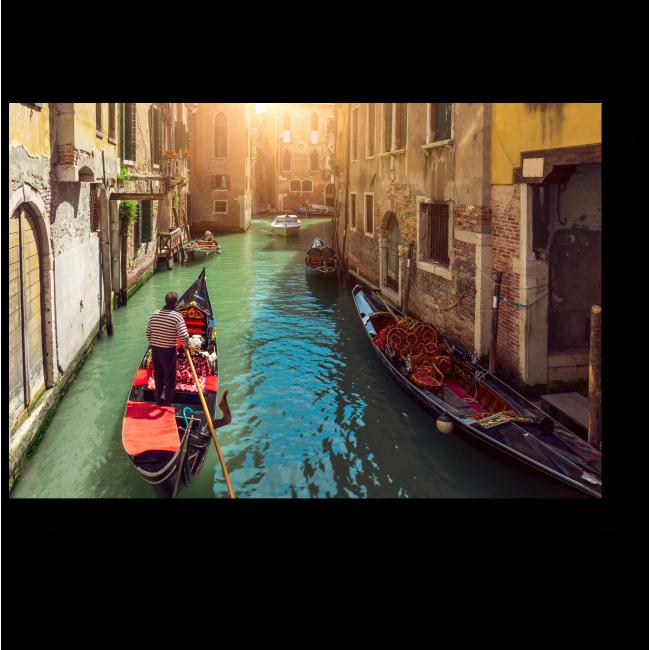 Модульная картина Канал с гондолами в Венеции