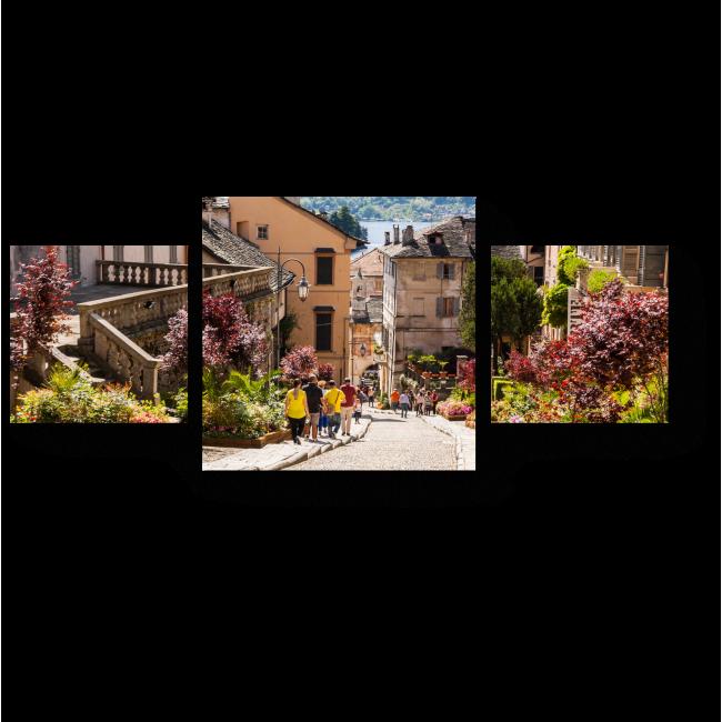 Модульная картина Исторический центр города Орта-Сан-Джулио