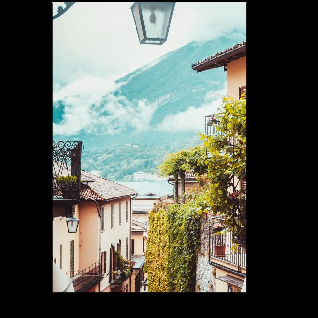 Модульная картина Вид на улицу в Италии