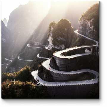 Модульная картина Извилистая дорога