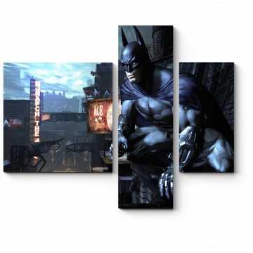 Модульная картина Бэтмен охраняет покой города