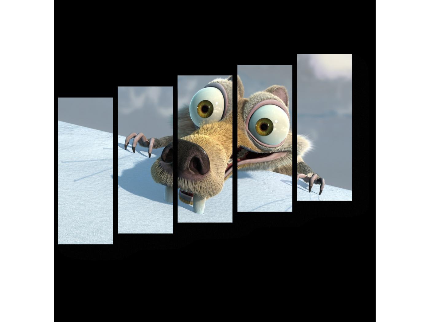 Модульная картина Упорство (90x63) фото