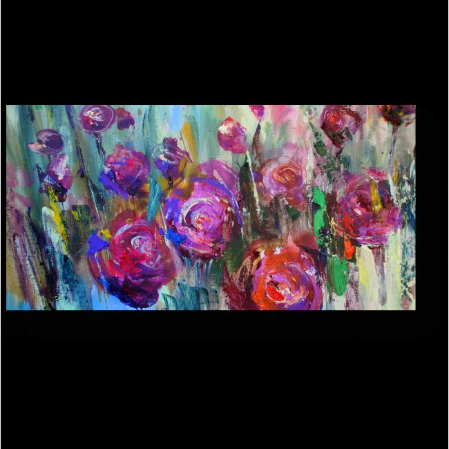 Модульная картина Цветочная экспрессия