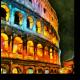 Ночной Колизей, Рим