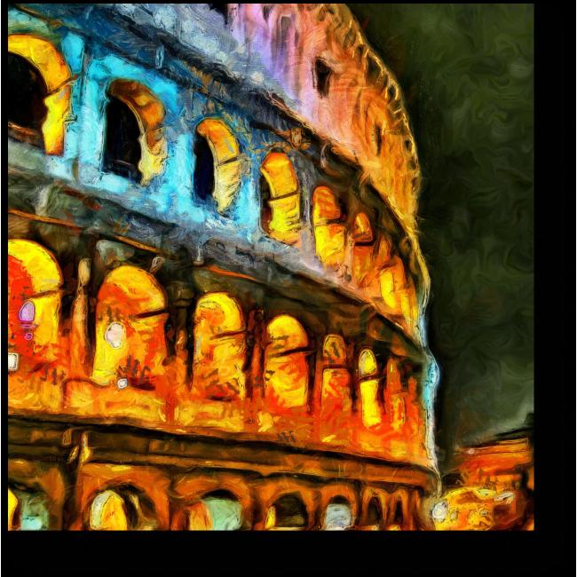 Модульная картина Ночной Колизей, Рим