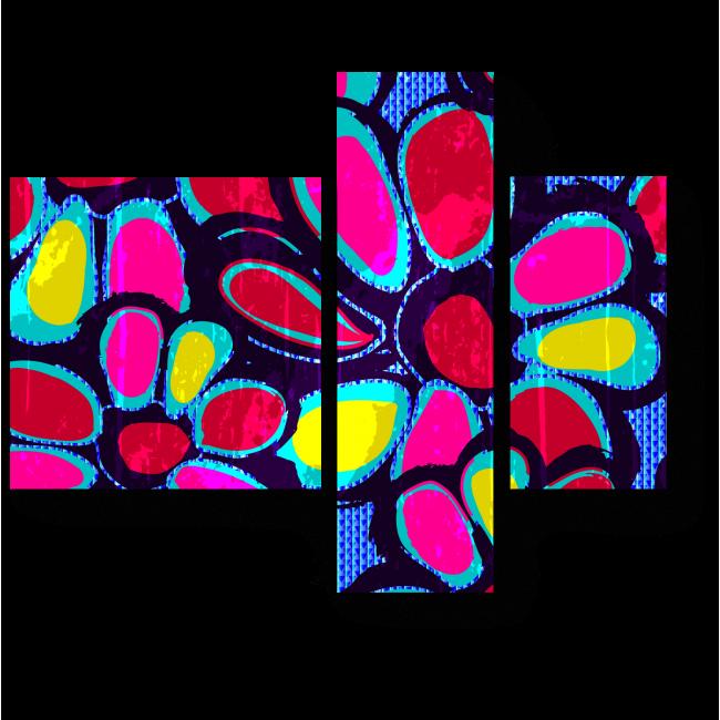 Модульная картина Цветочное граффити