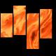 Модульная картина Лава