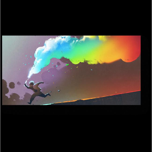 Модульная картина Разноцветный дым