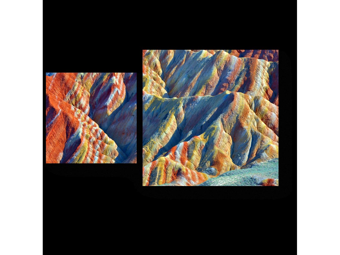 Модульная картина Горы в Китае (50x30) фото