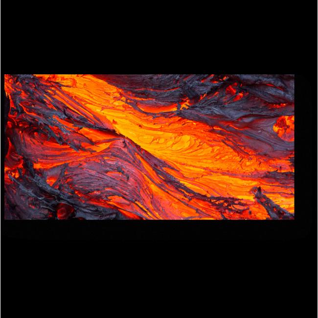 Модульная картина Извержение вулкана