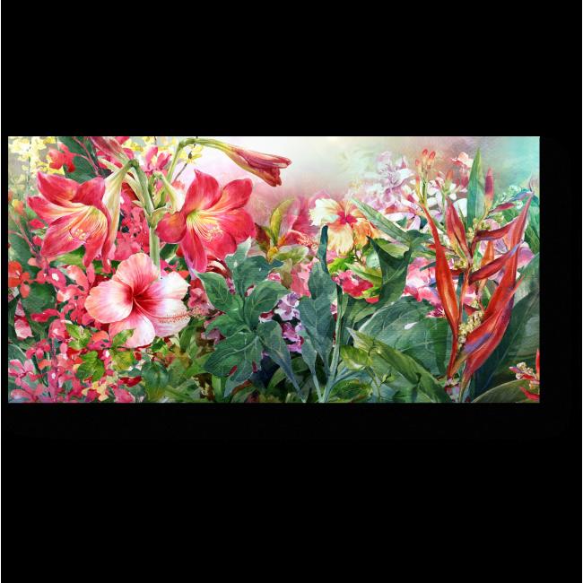 Модульная картина Яркие цветы