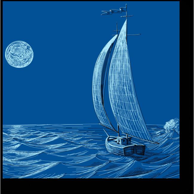 Модульная картина Лунный яркий свет