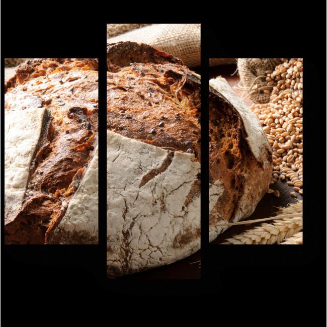 Модульная картина Пряный хлеб