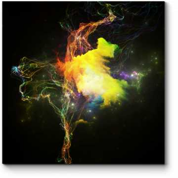Модульная картина Космические медузы