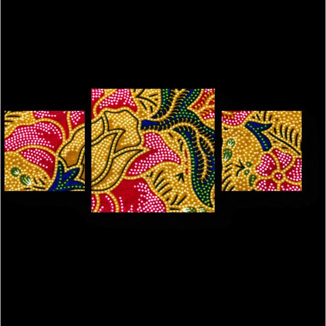 Модульная картина Цветочная ветвь