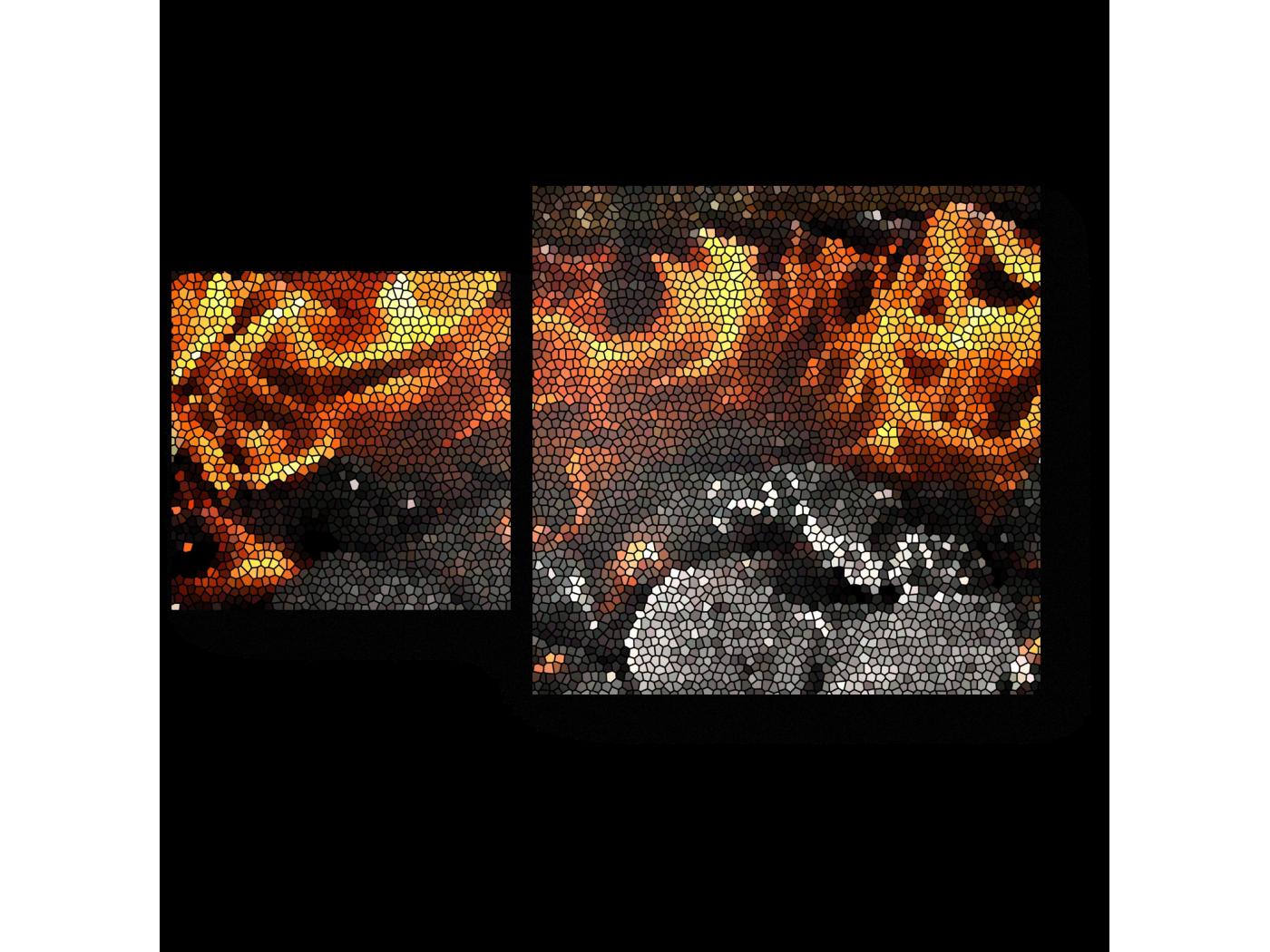 Модульная картина Согревающее пламя (50x30) фото