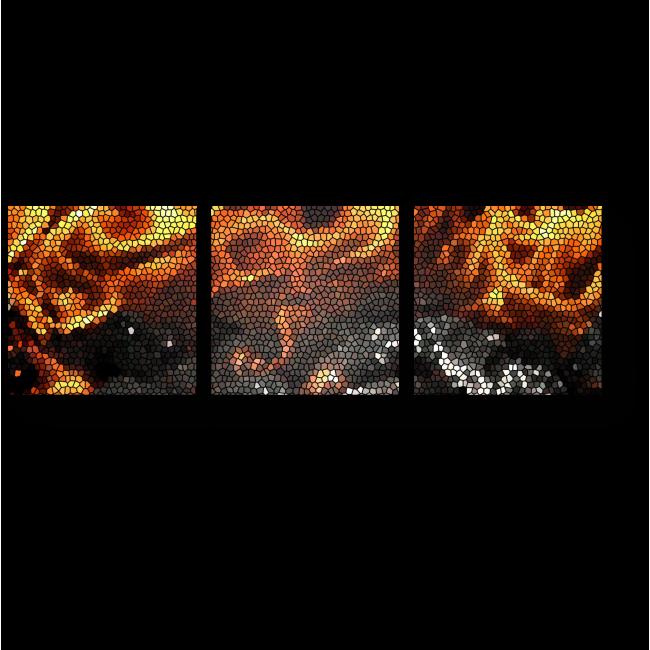 Модульная картина Согревающее пламя