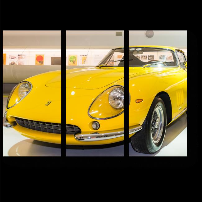 Модульная картина Желтый Феррари 1966 года