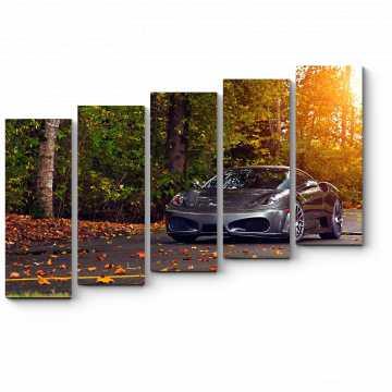 Модульная картина Осенняя поездка за город