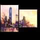 Урбанистический пейзаж на закате
