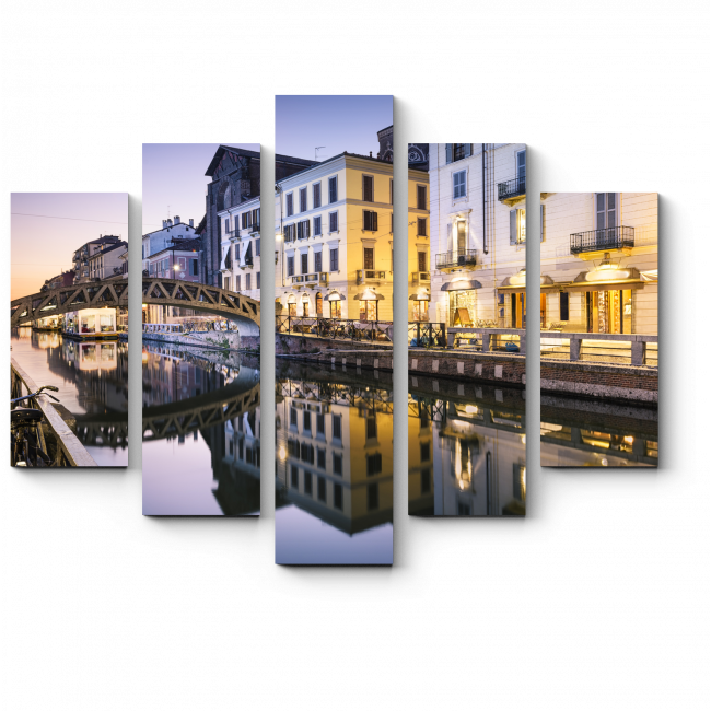 Модульная картина Тихий вечер в Милане
