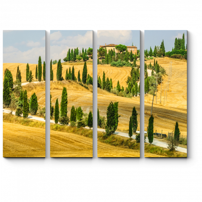 Модульная картина Старая ферма в Тоскане