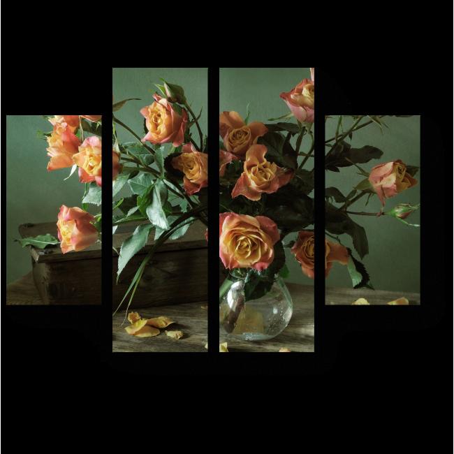 Модульная картина Прекрасный букет роз