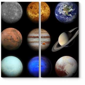 Модульная картина Планеты солнечной системы