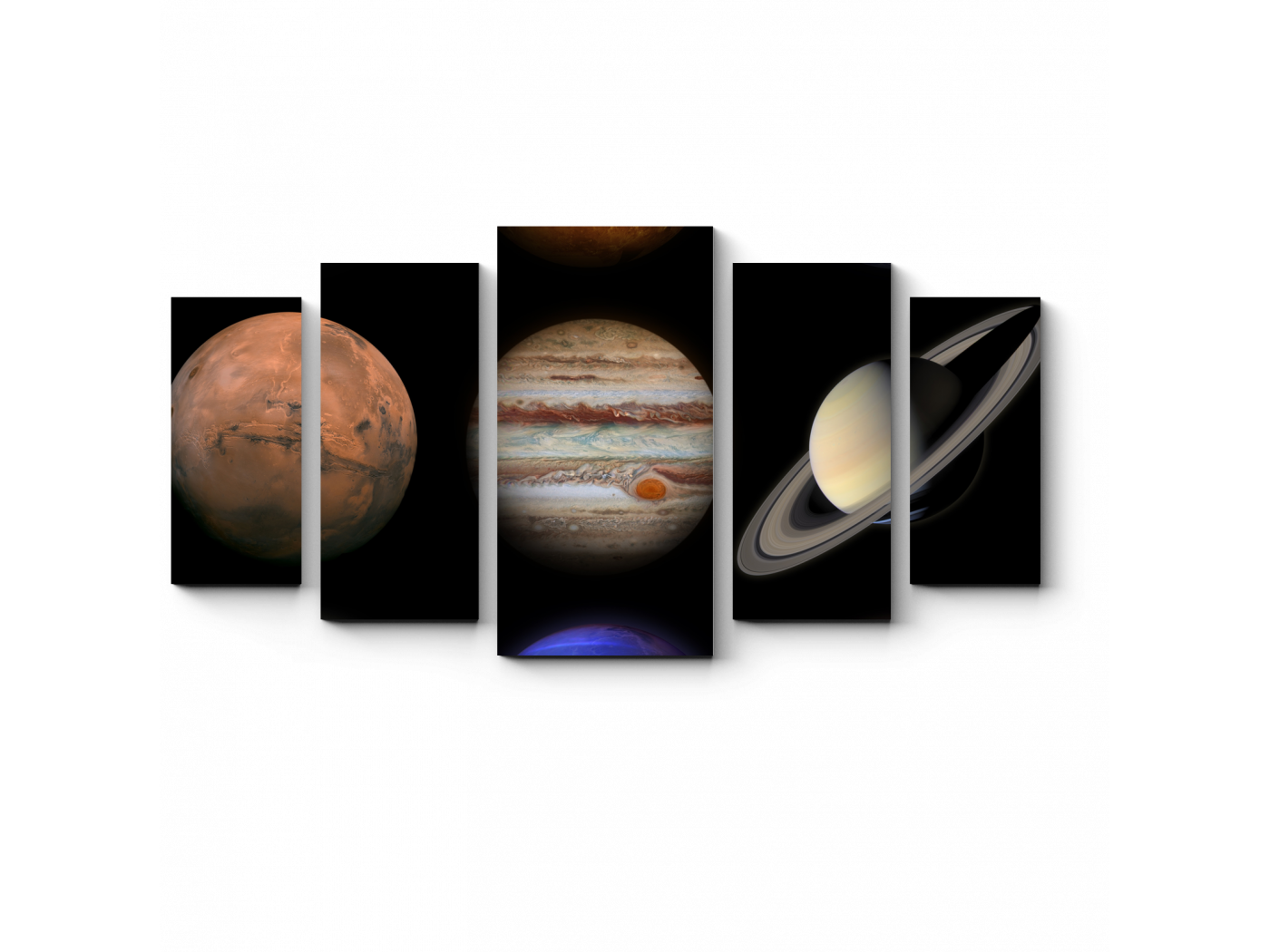 Модульная картина Планеты солнечной системы (100x55) фото