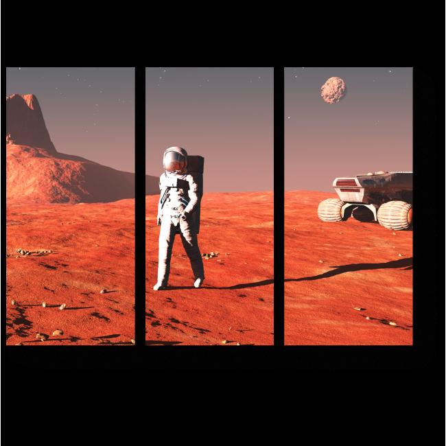 Модульная картина Прогулка по Марсу