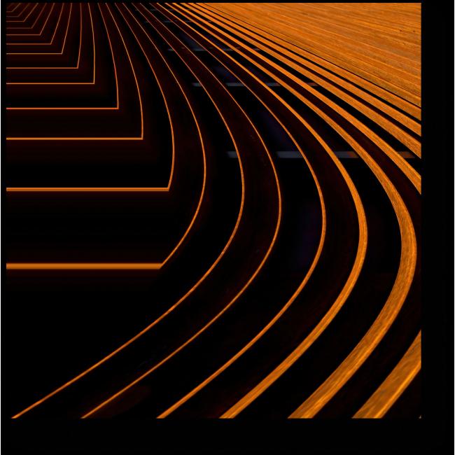 Модульная картина Оранжевые линии